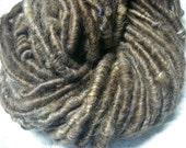 Handspun Corespun Bulky Icelandic x Shetland Wool Art Yarn in Natural Silver Brown by KnoxFarmFiber for Weaving Felting Embellishment
