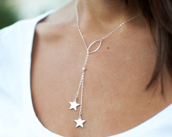 2-DAY 20% OFF SALE Star necklace, shooting star necklace, make a Wish necklace, Mother child, best friends, sisters, bff, sterling silver, t