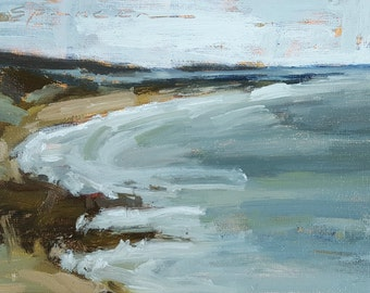 A View of Second Beach   Oil Painting   5 x 7