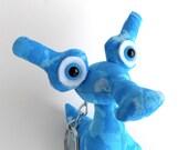 Alien Toy Keychain, Monster Toy Keychain, Cute Keychain, Cute Alien Keychain by Adopt an Alien named Gonzo