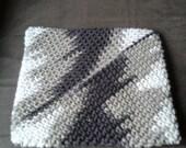 Crocheted Vargiated Brown Pot Holder/Hot Pad/Trivet