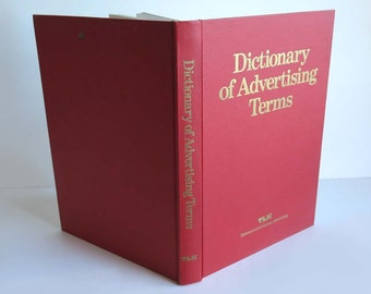 Dictionary of Advertising Terms, Lawrence Urdang,  TLK Tatham Laird & Kudner Advertising, 1977 Hardcover, MAD MEN Advertising Reference Book