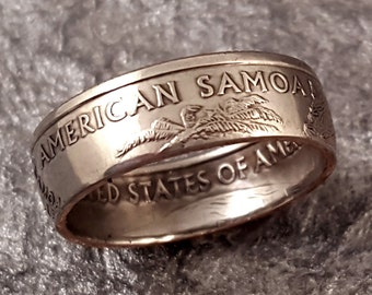 American Samoa Coin Ring YOUR SIZE 5 to 10.5 MR0705-Tstams