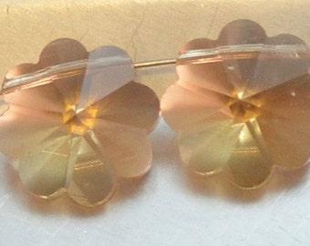 Vintage Smoky Topaz Crystal 13mm Pendant like 5744 cut (2)