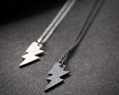 Tiny sterling silver lightening bolt charm sterling silver