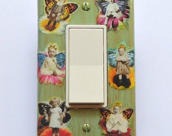 5 CHOICES- Nursery Switchplates w/ MATCHING SCREWS- Nursery wall babies room juvenile art nursery outlet covers animal characters kids stuff