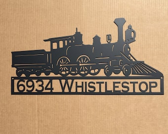 Old Train Steam Engine with Custom Text Field (J 12)