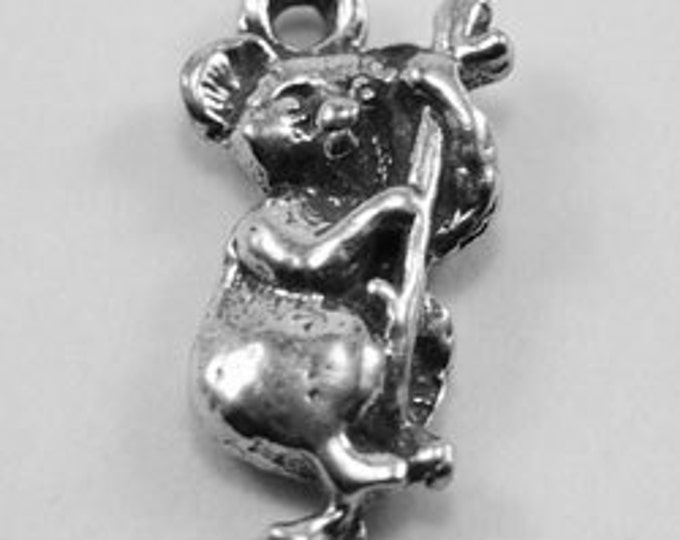 Koala Pendant on tree branch made with quality Australian Pewter AF222