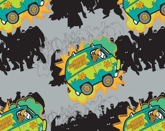 Scooby Doo Mystery Machine Gray Camelot Cotton Woven BTY