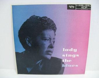 Billie Holiday Lady Sings The Blues Vintage Vinyl on Verve MGV-8099 Still SEALED Never Opened Blues Jazz LP Record