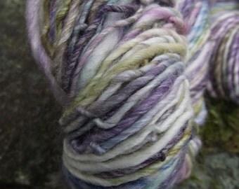 Handspun yarn, handpainted yarn , superwash merino bamboo yarn, worsted multiple skeins available-IRIS