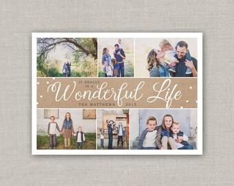 Wonderful Life Holiday Photo Card