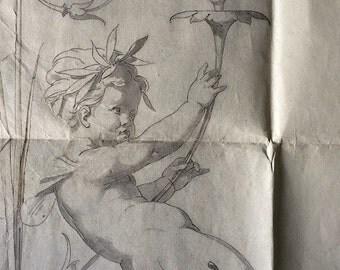 Take 25% OFF & FREE Shipping, Antique French Paper Stencil, Bobbin Lace Making, Ephemera, Use 25percentoff Coupon Code