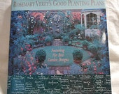 ENGLISH GARDEN Book Rosemary Verey Plans for Small Scale Garden Designs, Cottage Knot Raised Beds, Veggies Flowers Illus Projects, 1993 hcdj