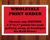 Wholesale Prints, Sixteen 8.5x11 Prints, Bulk Order, Wholesale Art, Boutique Wholesale, Whimsical Gifts, Bundled Wall Art, Whimsical Prints