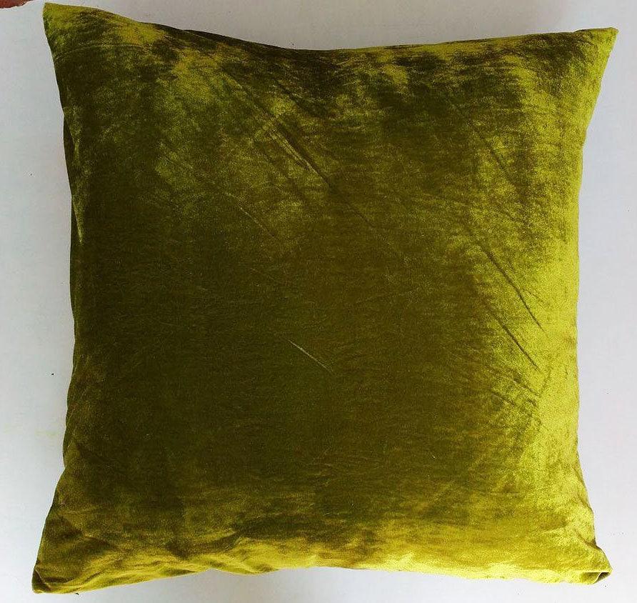 lime green velvet pillow floor pillow decorative pillow. Black Bedroom Furniture Sets. Home Design Ideas