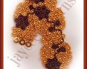 Spanish Rose Bracelet Pattern - Netting stitch tutorial
