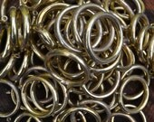 Lot of 82 Brass Colored Curtain Rings