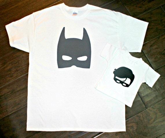 Batman And Robin Matching Dad And Son Shirts New Baby