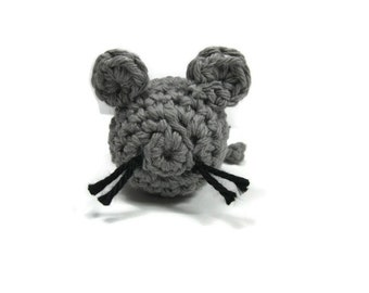 Crocheted Cotton Mouse Cat Nip Toy Made to Order