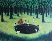 It Happened One Day In A Forest Far Away - Fine Art Print of Original Painting