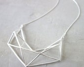 Sale 20% OFF Short Structure Necklace, Geometric necklace, signature necklace, Architectural jewelry,