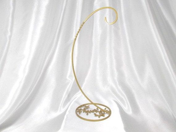 Large Leaf  Base  Ornament Stand  in Antique Gold