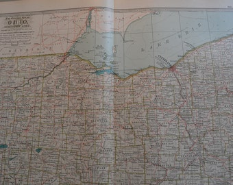 Northern Ohio Map Etsy - Map of northern ohio