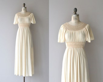Athena maxi dress | vintage 1970s dress | grecian 70s maxi dress