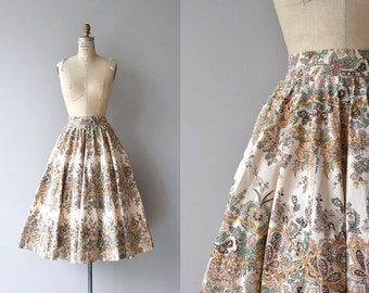 Ars Floria skirt   floral print 50s skirt   vintage 1950s skirt