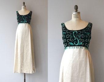 Anastasia dress | vintage 1960s dress | beaded 60s maxi dress