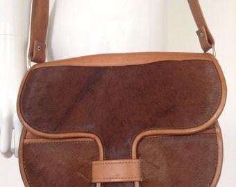 Vintage 70's Horse Hair Leather Bag