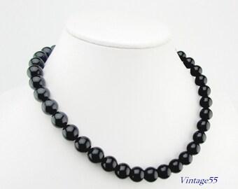 Black Beaded Onyx Necklace