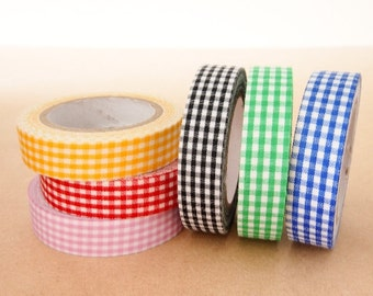 Fabric Deco Tape - Gingham