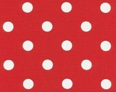 Reserved for Alison - polka dot red white Table Runner, Kitchen Cafe Nook Runner, lipstick red white