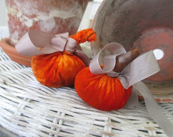 Vintage Velvet Pumpkins * Fall * Autumn * Thanksgiving