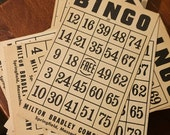 Vintage Bingo board game cards