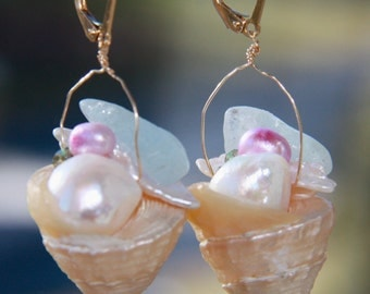 Mermaid's Basket Earrings