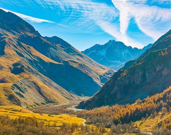 Northern Italian Alps Mountain Valley, Europe-8x10-Color Fine Art Photo-Certificate of Authenticity-Signed by Artist