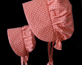 Pioneer matching sunbonnet set for girl and doll - ready to ship