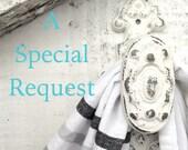 A Special Request for Karen, 4 Small ( 10.5)  Dark Walnut Handles