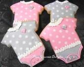 Reserved for Denise---Baby Onesie Cookies - 12 Cookies