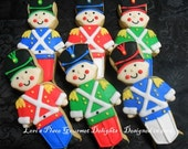 Toy Soldier Cookies - 12 Cookies