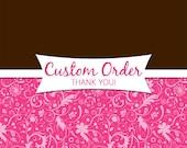 Custom Order for Mary
