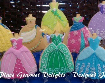 Princess Dress Cookies - 6.00 each