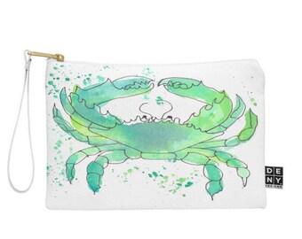 Seafoam Green Crab Pouch