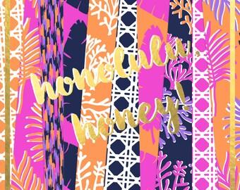Honolulu, Honey! Digital Paper Pack (Instant Download)
