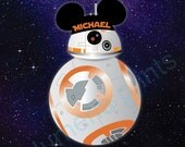 BB8 Star Wars Magnet Wearing Mouse Ears Hat for Disney Cruise Stateroom Door