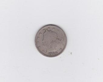 1900  Liberty head or victory nickel