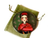30% Off Halloween Sale - Frida - Pocket Mirror